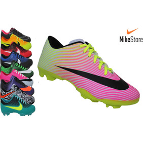 Chuteira Nike Campo Branco Rosa Neynar Cr7 Mercurial Trava
