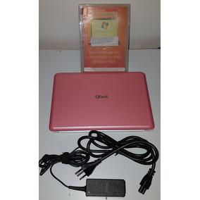 Netbook Qbex N450 Rosa + Capa E Windows 7 Original