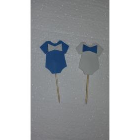 Baby Shawer Tutores Para Mufins 12x180 Blancos Y Azules