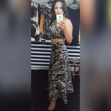 Conjunto Cropped E Saia Em Renda Pronta Entrega Vestido