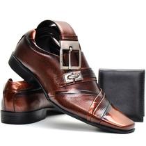 Calçados Social Masculino Stilo Italiano+cinto+carteira