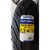 Pneu Traseiro Michelin 180/55-17 Pilot Road 4 Hornet Cbr R1