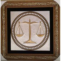 Quadro Advocacia - Símbolo Da Justiça - Advogado