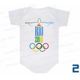 Body Infantil Olimpíada Rio 2016 Brasil Mascote Vinícius