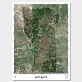 Mapa Satelital Provincia De San Luis 61cmx45cm