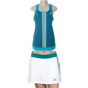 Conjunto Blusa Y Falda Short De Dama - adidas