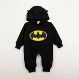 Macacão Masculino Batman Para Bebê Menino Fleece Tamanho 2