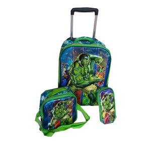 Kit Mochila Infantil De Rodinha Hulk 6d 2018 Cy199