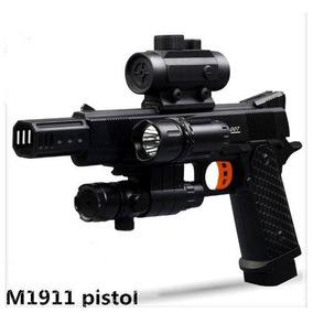 Kit Pistola Arminha Elétrica Airsoft Bolinhas De Gel M19111