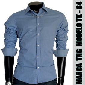 Camisa Social Slim Tng Original Tk-84 Tecido 100% Algodão