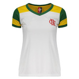 Camisa Flamengo Brasil Retrô Feminina