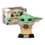 Boneco Funko Pop Star Wars Baby Yoda C/ Copo 378 - Original
