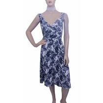 Vestido De Liganete Estampa Floral Com Decote Transpassado