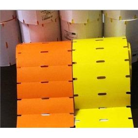 Rolo Etiqueta Para Gôndola 100x40mm Amarelo Ou Laranja 90m