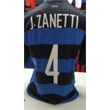 Camiseta Inter Pupi Zanetti Importada L Consulte Siempre