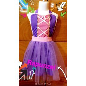 Disfraz Princesa Rapunzel Disney Vestido Tutu Para Niña