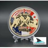 Moneda De Colección Dia D Normandia Segunda Guerra Mundial