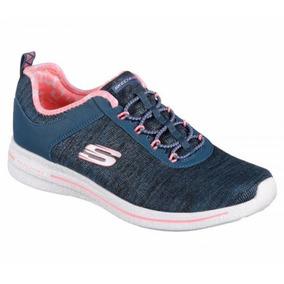 Skechers Zapatilla Training Mujer Burst 2.0 Suny Side Azul