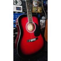 Guitarra Acustica Electroacustica Funda Y Puas Gratis!