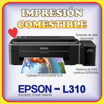 Epson L310 Obleas Tintas Comestibles