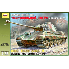 Tanque Zvezda P/armar King Tiger Ausf. B 1/35 Kit 3601