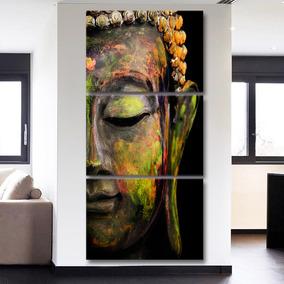 Quadro 120x60cm Buda Colorido Decorativo Interiores
