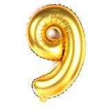 Balão Metalizado Dourado Número Gigante 1 M