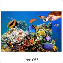 Adesivo Decorativo Oceano Job1055 90 X 60cm Personalizado.