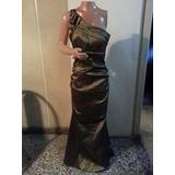 Vestido Largo De Noche De Taftan T S A L $ 1600 Espectacular