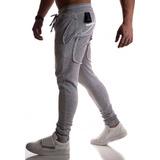 Promoção Calça Moletom Skinny Cinza Escura
