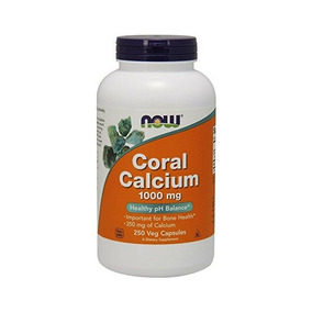 Ahora Coral Calcio 1000 Mg, 250 Veg Cápsulas