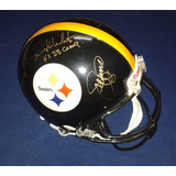 Casco Pro Line Firmado Cortina De Acero Pittsburgh Steelers