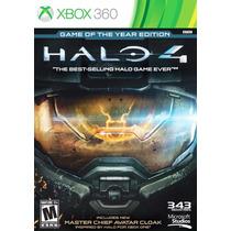 Halo 4 Edición Juego Del Año Xbox 360 En Español Nuevo