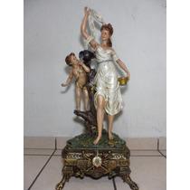 Ninfa Con Angel Figura De Resina 72cm