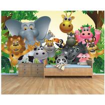 Papel De Parede Infantil Zoo Safari 3,00 X 2,10 M M14