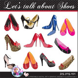 Kit Imprimible Pack Clipart Zapatos Glamour Imagenes Png Eps