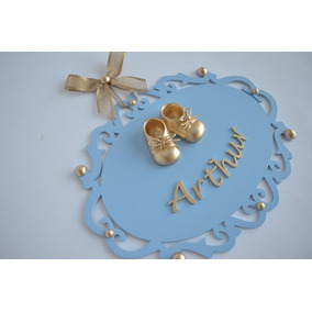 Sapatinho Rei Príncipe Luxo Porta Maternidade Bebê Quadro