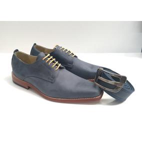Zapatos De Cuero Base De Suela Hombre + Cinturón