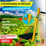 Plantadeira Manual De Hortaliças Com Limitador Ajustável