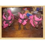 Muñecos De Las Tortugas Ninjas Maestro Splinter Con Armas