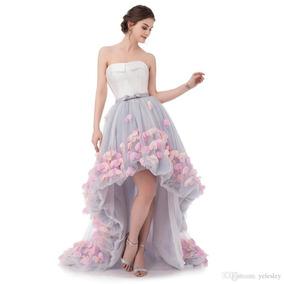 Vestido De 15 Años Micro Tul Flores
