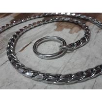 Collar Holandés De Lujo Para Perro, Tipo Vibora 60cm Cromado