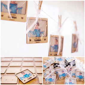 Souvenir Iman Madera Polaroid De Diseño Con Foto