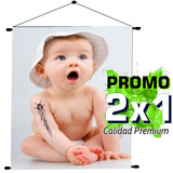 Banners Colgantes Impresos Fullcolor 120x60cm. Promo 2x1