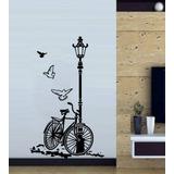 Vinilo Pared Bicicleta Y Farol Decoración Wall Stickers