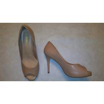 Zapatos Stiletos Color Nude Y Coral.