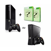 Xbox 360 Slim E Super Slim 4gb 2 Jogos De Brinde.