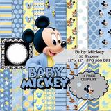 Kit Imprimible Baby Mickey 3 -11 Clipart 30 Fondos Ver Promo