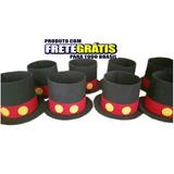 Cartola Mickey Enfeites Eva Kit C/ 50 Centro De Mesa + Frete