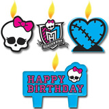 Fiesta Monster High Set De Velas Para Torta/importado/fiesta
